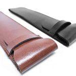 Shuxy Porte-stylo en Cuir Fait Main Pochette pour Stylo-plume Protecteur de Stylo Doux Housse de Manche pour Stylo à Bille, Stylet - Paquet de 2 ( Noir & Marron ) de la marque Shuxy image 3 produit
