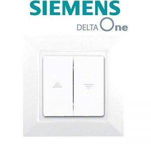 Siemens - Interrupteur Volet Roulant Blanc Siemens DELTA ONE de la marque Siemens image 0 produit