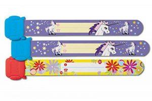 Sigel SY451 Lot de 3 Bracelets d'identification pour filles réutilisable motif licorne/fleurs de la marque Sigel image 0 produit