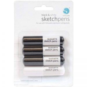 Silhouette Sketch Pens 4/Pkg-3 Black & 1 White de la marque Silhouette Of America image 0 produit
