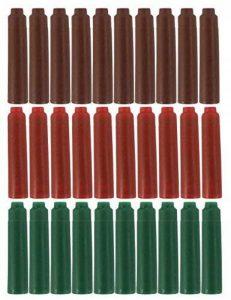 Sipliv approprié pour stylo plume Jinhao cartouche d'encre, la taille standard, paquet de 30 PCS, trois couleurs d'encre (brun, rouge, vert) de la marque SIPLIV image 0 produit
