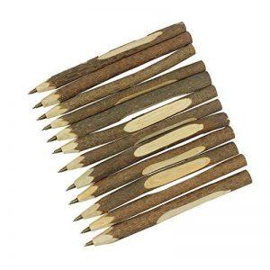 Sipliv stylo à bille en bois à la main créative stylo bois écologique d'origine style long (environ 6,7 pouces, 17 cm) - 12 pcs de la marque SIPLIV image 0 produit