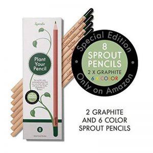 Sprout – crayons de couleur | boîte de 8 crayons en bois naturel bio de la marque SPROUT® image 0 produit