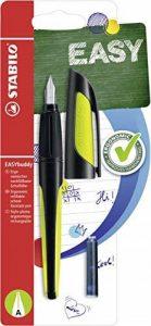 Stabilo 51562–3pour stylo-plume–Easy Buddy en–Couleur d'Encre Bleu (effaçable)–avec 2cartouches–avec débutants de plume A Noir/Citron Vert de la marque STABILO image 0 produit