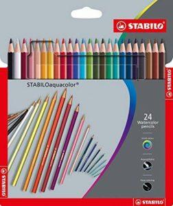 Stabilo Aquacolor Crayon de couleur aquarellable dans emballage en carton 24 pièces de la marque STABILO image 0 produit