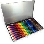 Stabilo Aquacolor Crayons aquarelle–36Couleurs assorties en boîte cadeau en métal de la marque STABILO image 2 produit