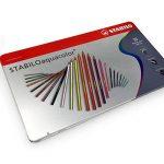 Stabilo Aquacolor Crayons aquarelle–36Couleurs assorties en boîte cadeau en métal de la marque STABILO image 3 produit