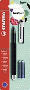 Stabilo becrazy. Stylo roller–Motif: Uni Colors, Noir–Simple Stylet + 3cartouches de la marque STABILO image 0 produit