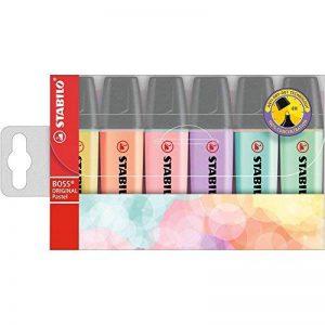 STABILO BOSS ORIGINAL Pastel - Pochette de 6 surligneurs - Coloris assortis de la marque STABILO image 0 produit