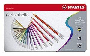 STABILO CarbOthello - Boîte métal de 48 crayons de couleur fusains pastels + taille-crayon - Coloris assortis de la marque STABILO image 0 produit