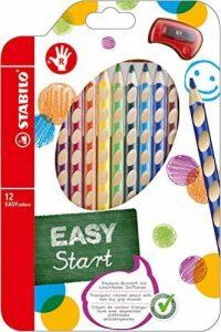 STABILO EASYcolors - Pochette de 12 crayons de couleur ergonomiques + taille-crayon - Droitier de la marque STABILO image 0 produit