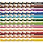 STABILO EASYcolors - Pochette de 12 crayons de couleur ergonomiques + taille-crayon - Droitier de la marque STABILO image 1 produit