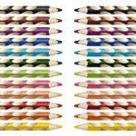 STABILO EASYcolors - Pochette de 12 crayons de couleur ergonomiques + taille-crayon - Gaucher de la marque STABILO image 2 produit