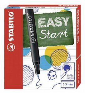STABILO EASYoriginal - Pack de 20 recharges pour stylo roller ergonomique (encre bleue effaçable / pointe 0,5mm) de la marque STABILO image 0 produit