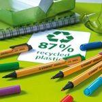 STABILO GREENpoint - Lot de 10 stylos-feutres pointe large - Noir de la marque STABILO image 2 produit