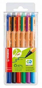 STABILO GREENpoint - Pochette de 6 stylos-feutres pointe large - Coloris assortis de la marque STABILO image 0 produit