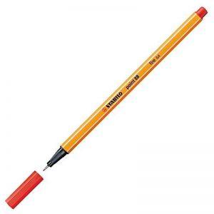 STABILO - Lot de 10 stylos-feutres pointe fine - Rouge (Point -88/40) de la marque STABILO image 0 produit