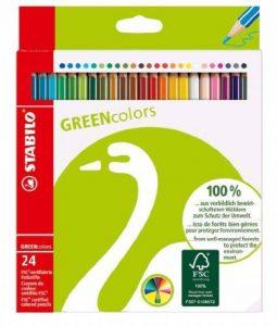 STABILO Lot de 24 crayons de couleur GREENcolors certifiés FSC (Import Allemagne) de la marque STABILO image 0 produit