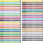 STABILO Pen 68 - Boîte métal de 50 feutres pointe moyenne - Coloris assortis de la marque STABILO image 4 produit