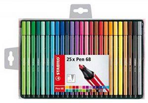 STABILO Pen 68 - Coffret de 25 feutres pointe moyenne - Coloris assortis de la marque STABILO image 0 produit