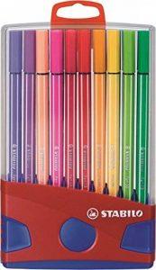 STABILO Pen 68 - ColorParade rouge de 20 feutres pointe moyenne avec attache - Coloris aléatoire de la marque STABILO image 0 produit