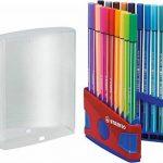 STABILO Pen 68 - ColorParade rouge de 20 feutres pointe moyenne sans attache - Coloris assortis de la marque STABILO image 3 produit