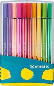 Stabilo Pen 68 Colorparade Turquoise de 20 feutres coloris assortis de la marque STABILO image 0 produit