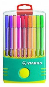 STABILO Pen 68 - Étui ColorParade turquoise de 20 feutres pointe moyenne - Coloris assortis de la marque STABILO image 0 produit