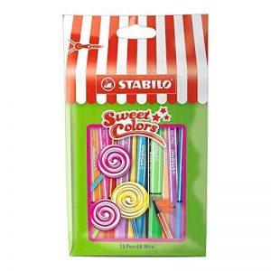 STABILO Pen 68 Mini - Sachet Sweet Colors de 15 feutres pointe moyenne (Édition Limitée) de la marque STABILO image 0 produit