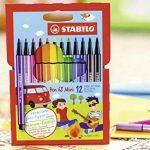 STABILO Pen 68 Mini - Étui carton de 18 feutres pointe moyenne - Coloris assortis de la marque STABILO image 3 produit