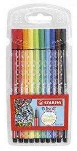 STABILO Pen 68 - Pochette de 10 feutres pointe moyenne - Coloris assortis de la marque STABILO image 0 produit