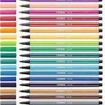 STABILO Pen 68 - Étui ColorParade turquoise de 20 feutres pointe moyenne - Coloris assortis de la marque STABILO image 2 produit