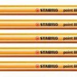 STABILO - Pochette de 5 stylos-feutres point 88 + 5 feutres Pen 68 - Couleurs fluo de la marque STABILO image 1 produit