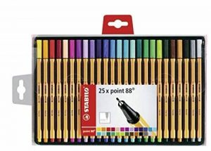 STABILO point 88 - Coffret de 25 stylos-feutres pointe fine - Coloris assortis de la marque STABILO image 0 produit