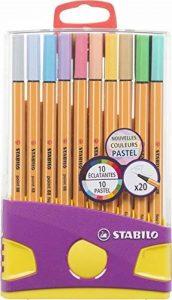 STABILO point 88 - ColorParade de 20 stylos-feutres pointe fine - Coloris assortis dont 10 pastel de la marque STABILO image 0 produit