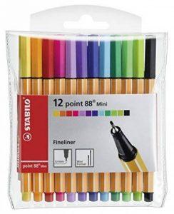 STABILO point 88 Mini - Pochette de 12 stylos-feutres pointe fine - Coloris assortis de la marque STABILO image 0 produit