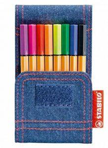STABILO point 88 Mini - Pochette JEANS EDITION 8 stylos-feutres (Édition Limitée) de la marque STABILO image 0 produit