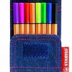 STABILO point 88 Mini - Pochette JEANS EDITION 8 stylos-feutres (Édition Limitée) de la marque STABILO image 1 produit