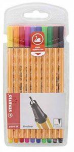 STABILO point 88 - Pochette de 10 stylos-feutres pointe fine - Coloris assortis de la marque STABILO image 0 produit