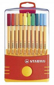 STABILO point 88 - Étui ColorParade de 20 stylos-feutres pointe fine - Coloris assortis avec attache de la marque STABILO image 0 produit