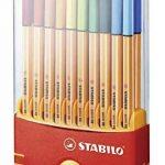 STABILO point 88 - Étui ColorParade de 20 stylos-feutres pointe fine - Coloris assortis avec attache de la marque STABILO image 1 produit