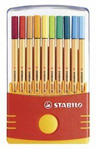 STABILO point 88 - Étui ColorParade de 20 stylos-feutres pointe fine - Coloris assortis sans attache de la marque STABILO image 0 produit
