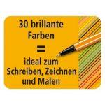 STABILO point 88 - Twin-Pack de 20 stylos-feutres pointe fine - Coloris assortis de la marque STABILO image 2 produit