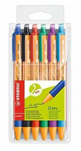 STABILO pointball - Pochette de 6 stylos bille rechargeables - Coloris assortis de la marque STABILO image 0 produit