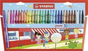 STABILO power - Étui carton de 30 feutres pointe moyenne - Coloris assortis de la marque STABILO image 0 produit