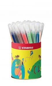STABILO Trio A-Z - Pot métal de 36 feutres pointe moyenne - 12 couleurs assorties de la marque STABILO image 0 produit