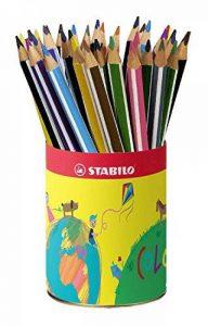 STABILO Trio - Godet de 38 crayons de couleur triangulaires - 12 couleurs assorties de la marque STABILO image 0 produit