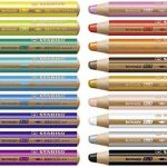 Stabilo Uk2/880–18 Woody 3 en 1 Multi Purpose crayon – Couleurs assorties (Lot de 18) de la marque STABILO image 1 produit