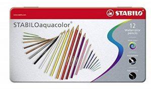 STABILOaquacolor - Boîte métal de 12 crayons de couleur aquarellables - Coloris assortis de la marque STABILO image 0 produit
