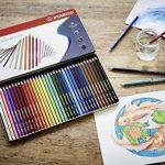STABILOaquacolor - Boîte métal de 36 crayons de couleur aquarellables - Coloris assortis de la marque STABILO image 3 produit
